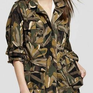 Who What Wear Women's Camo Leaf Print Jacket Sz S